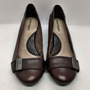 Hush Puppies Brown Wedge Shoes Size 8.5